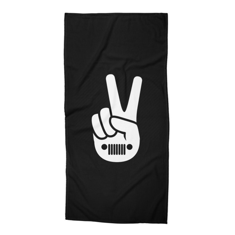 Peace Jeep Accessories Beach Towel by JeepVIPClub's Artist Shop