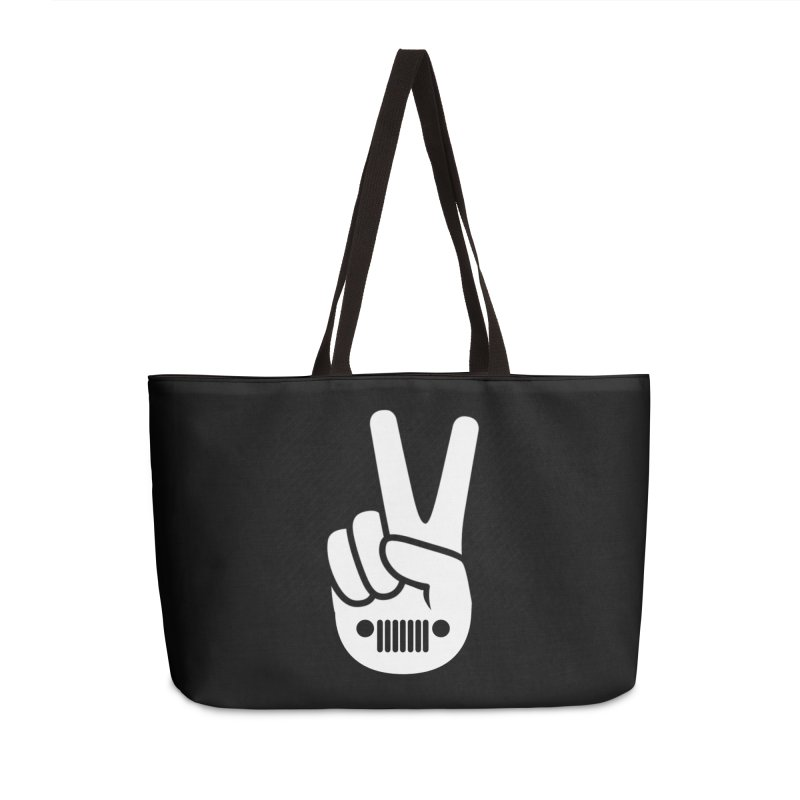 Peace Jeep Accessories Weekender Bag Bag by JeepVIPClub's Artist Shop