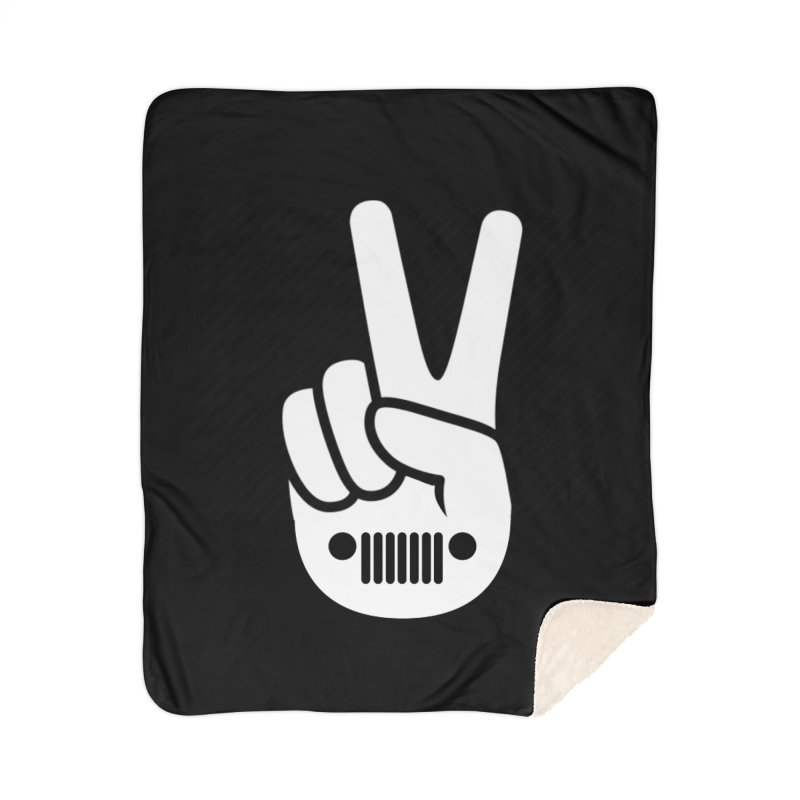 Peace Jeep Home Sherpa Blanket Blanket by JeepVIPClub's Artist Shop