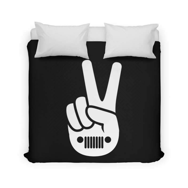 Peace Jeep Home Duvet by JeepVIPClub's Artist Shop
