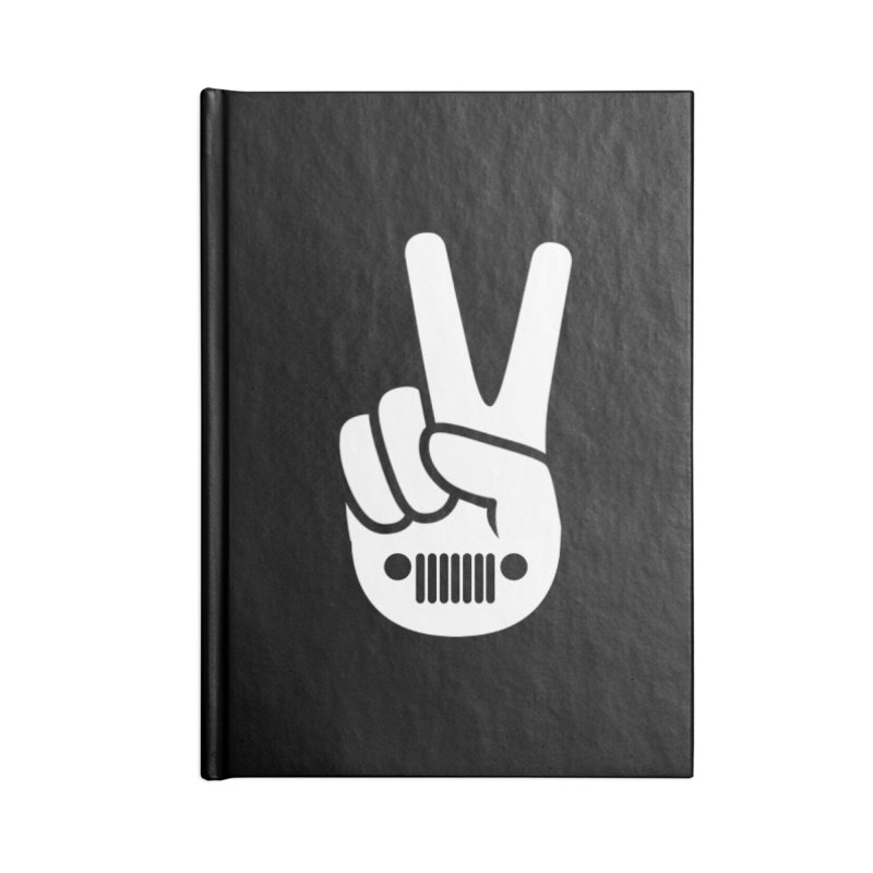 Peace Jeep Accessories Lined Journal Notebook by JeepVIPClub's Artist Shop