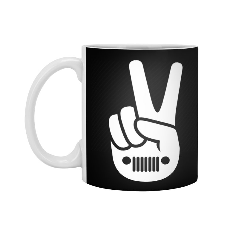 Peace Jeep Accessories Standard Mug by JeepVIPClub's Artist Shop