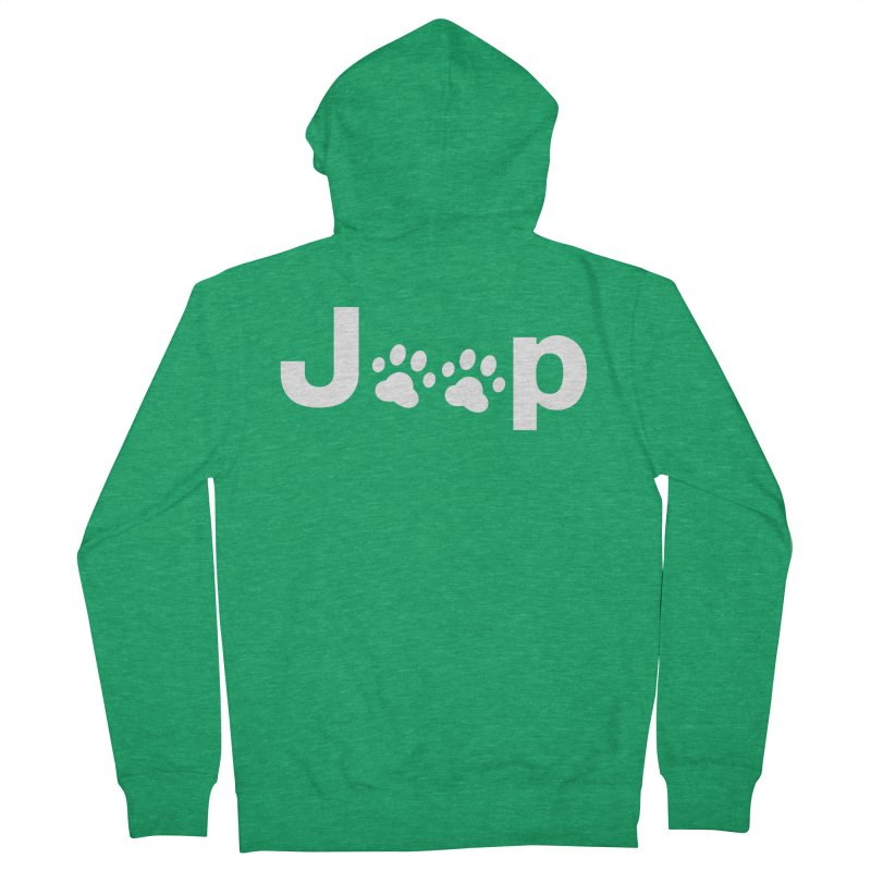 Put Your Paws Together! Women's French Terry Zip-Up Hoody by JeepVIPClub's Artist Shop