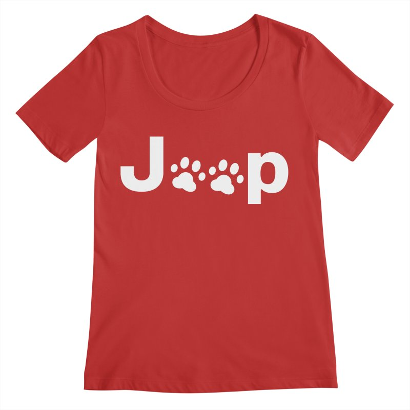 Put Your Paws Together! Women's Regular Scoop Neck by JeepVIPClub's Artist Shop