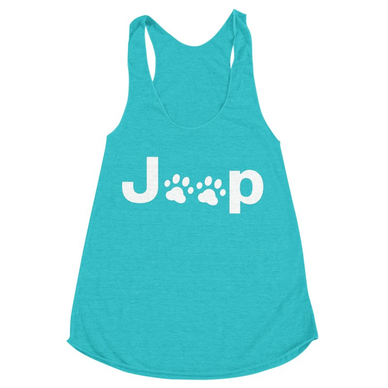Put Your Paws Together! Women's Racerback Triblend Tank by JeepVIPClub's Artist Shop
