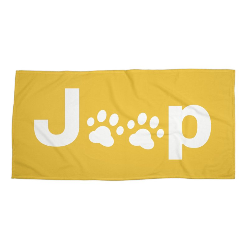 Put Your Paws Together! Accessories Beach Towel by JeepVIPClub's Artist Shop