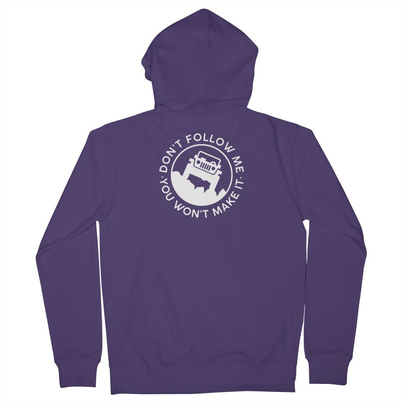 Follow The Leader! Women's French Terry Zip-Up Hoody by JeepVIPClub's Artist Shop