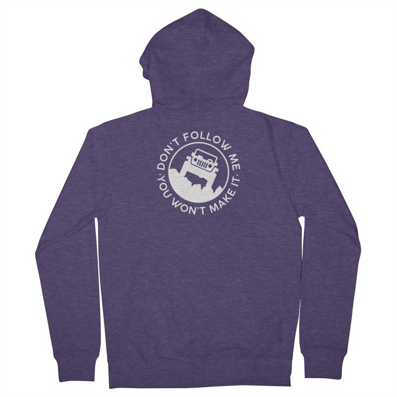 Follow The Leader! Men's French Terry Zip-Up Hoody by JeepVIPClub's Artist Shop