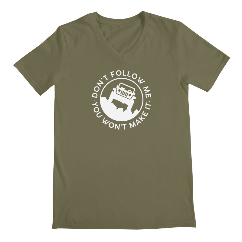 Follow The Leader! Men's V-Neck by JeepVIPClub's Artist Shop