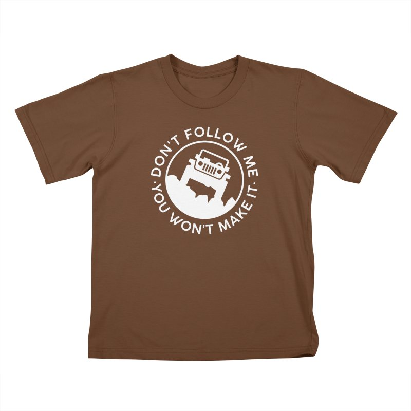 Follow The Leader! Kids T-Shirt by JeepVIPClub's Artist Shop