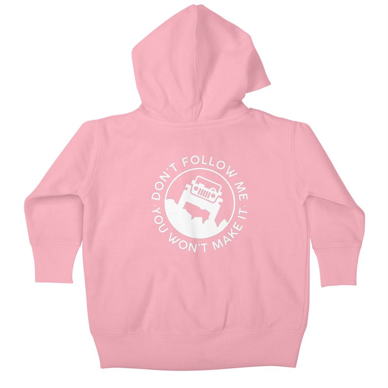 Follow The Leader! Kids Baby Zip-Up Hoody by JeepVIPClub's Artist Shop
