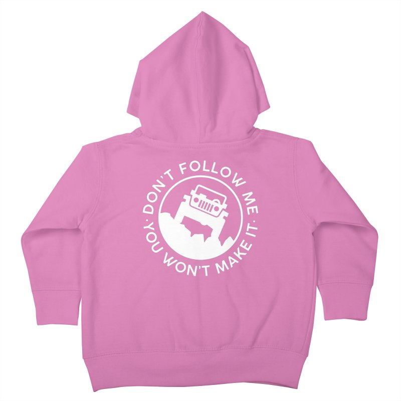 Follow The Leader! Kids Toddler Zip-Up Hoody by JeepVIPClub's Artist Shop