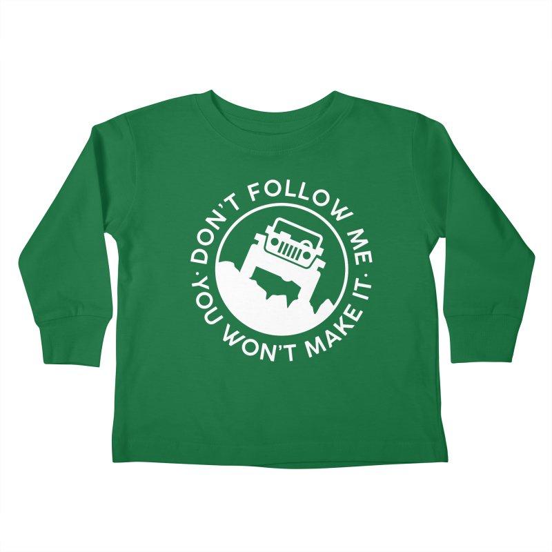 Follow The Leader! Kids Toddler Longsleeve T-Shirt by JeepVIPClub's Artist Shop
