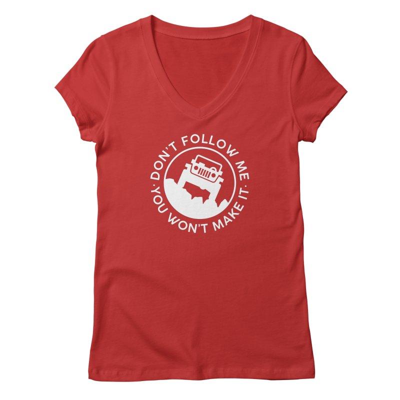 Follow The Leader! Women's Regular V-Neck by JeepVIPClub's Artist Shop