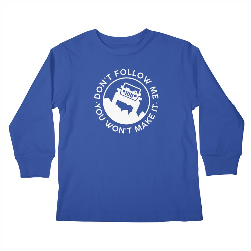 Follow The Leader! Kids Longsleeve T-Shirt by JeepVIPClub's Artist Shop