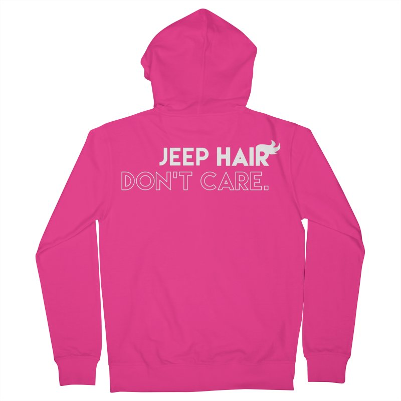 Jeep Hair Don't Care. Men's French Terry Zip-Up Hoody by JeepVIPClub's Artist Shop