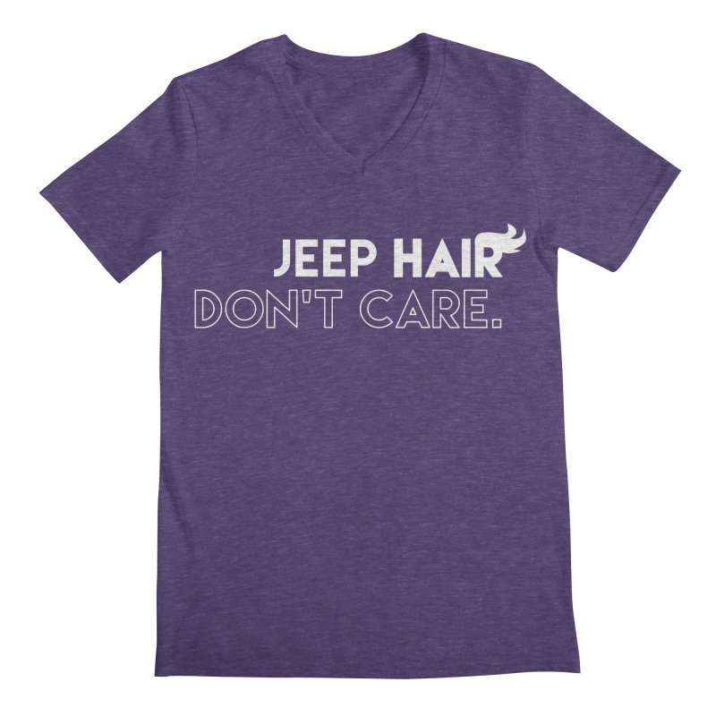 Jeep Hair Don't Care. Men's Regular V-Neck by JeepVIPClub's Artist Shop