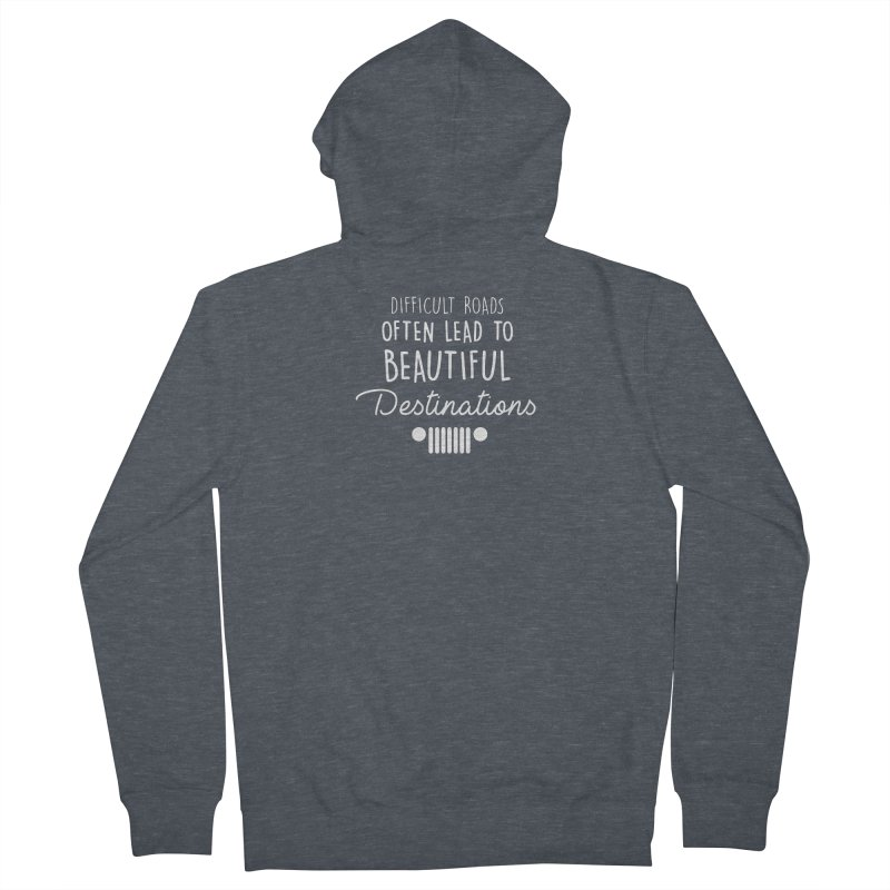 Beautiful Destinations Women's French Terry Zip-Up Hoody by JeepVIPClub's Artist Shop