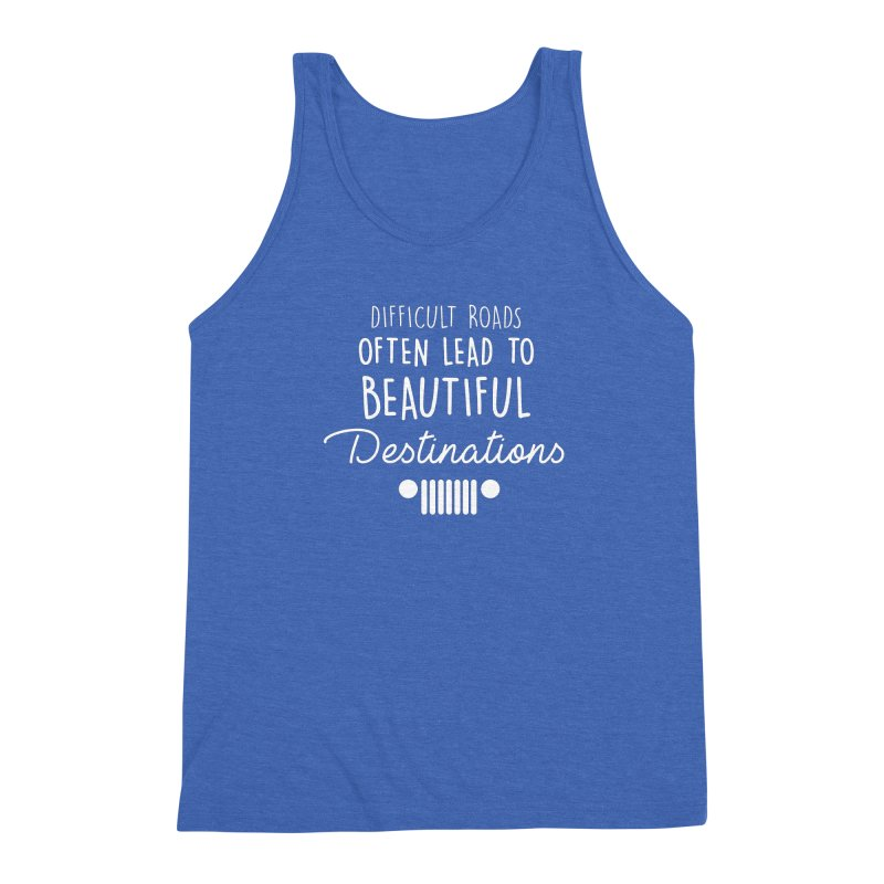 Beautiful Destinations Men's Triblend Tank by JeepVIPClub's Artist Shop