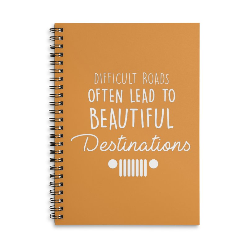 Beautiful Destinations Accessories Lined Spiral Notebook by JeepVIPClub's Artist Shop