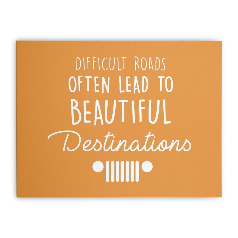 Beautiful Destinations Home Stretched Canvas by JeepVIPClub's Artist Shop