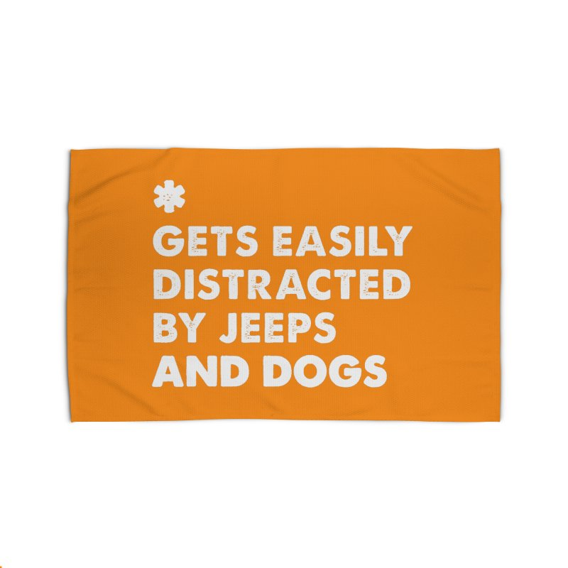 *Gets Easily Distracted by Jeeps and Dogs Home Rug by JeepVIPClub's Artist Shop