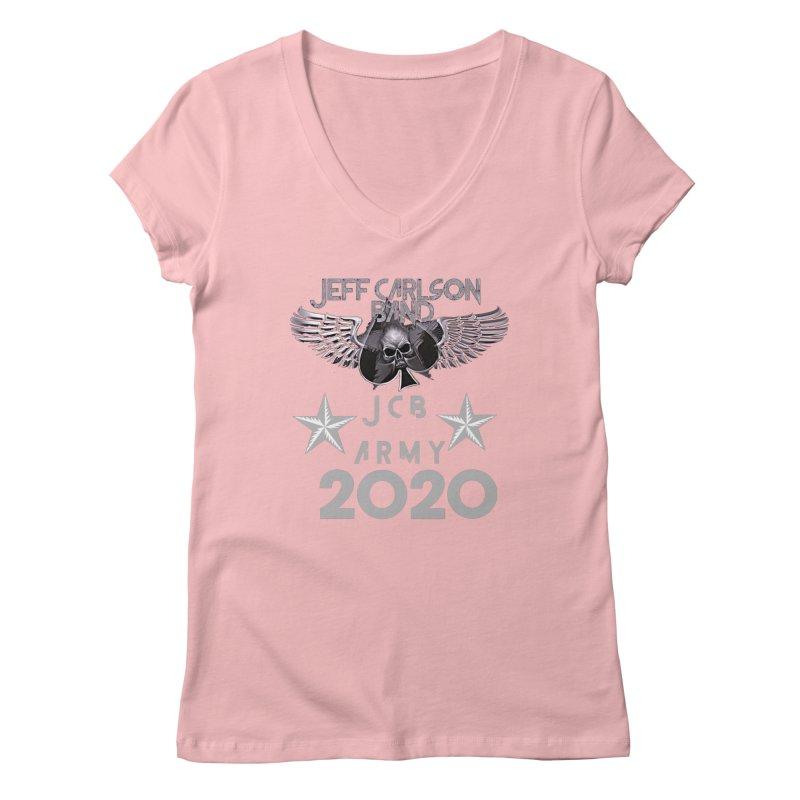 JCB ARMY 2020 Women's V-Neck by JeffCarlsonBand's Artist Shop