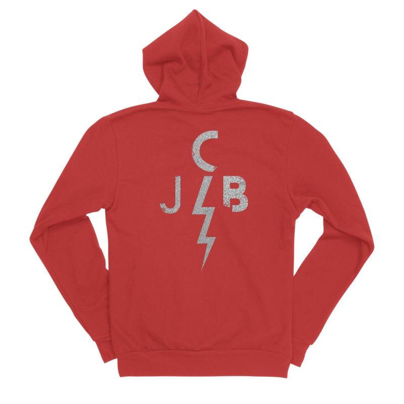 JCB Lightning Bolt Men's Zip-Up Hoody by JeffCarlsonBand's Artist Shop