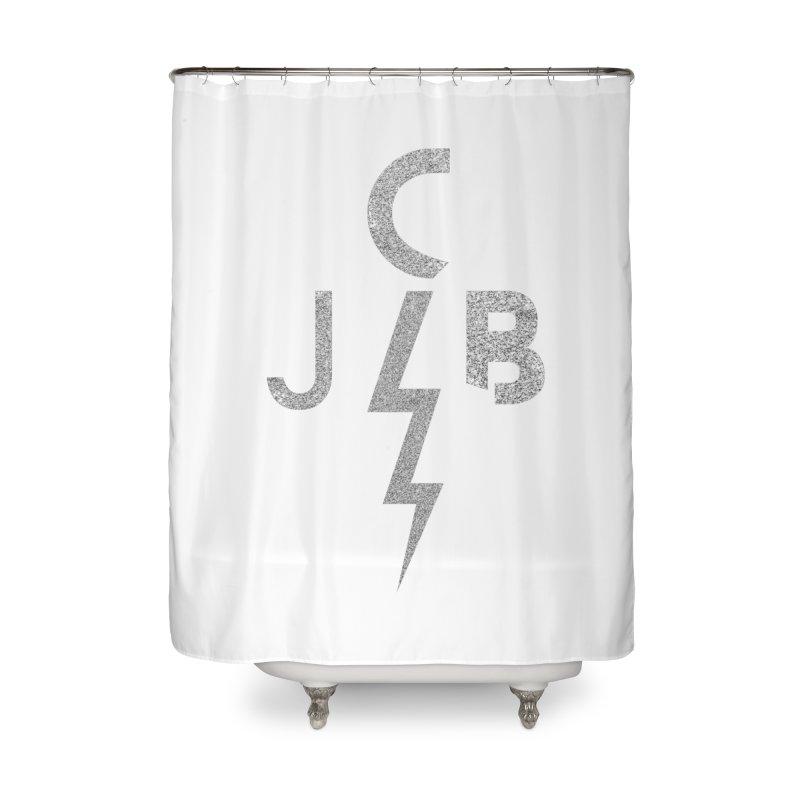 JCB Lightning Bolt Home Shower Curtain by JeffCarlsonBand's Artist Shop