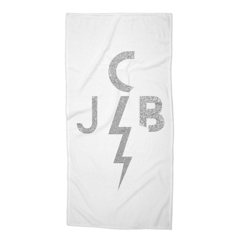 JCB Lightning Bolt Accessories Beach Towel by JeffCarlsonBand's Artist Shop