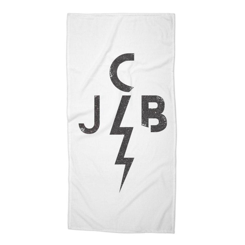 JCB Lightning Black Accessories Beach Towel by JeffCarlsonBand's Artist Shop