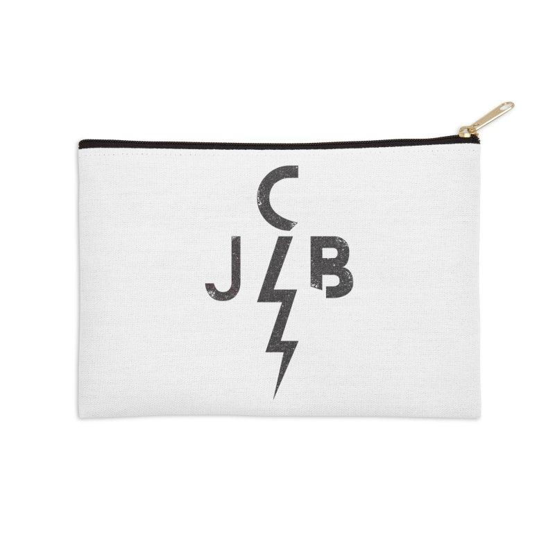 JCB Lightning Black Accessories Zip Pouch by JeffCarlsonBand's Artist Shop