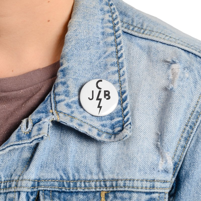 JCB Lightning Black Accessories Button by JeffCarlsonBand's Artist Shop