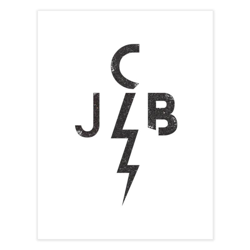 JCB Lightning Black Home Fine Art Print by JeffCarlsonBand's Artist Shop