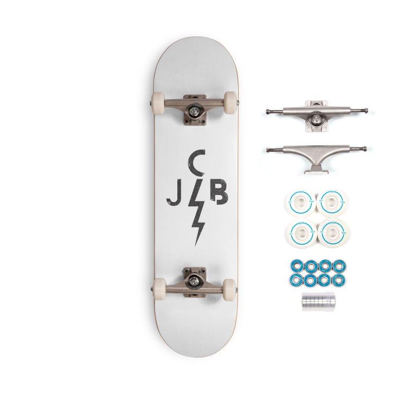 JCB Lightning Black Accessories Skateboard by JeffCarlsonBand's Artist Shop