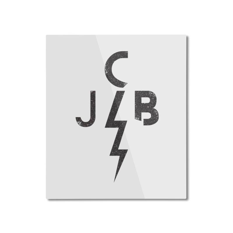 JCB Lightning Black Home Mounted Aluminum Print by JeffCarlsonBand's Artist Shop