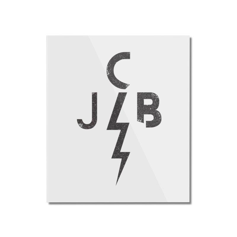 JCB Lightning Black Home Mounted Acrylic Print by JeffCarlsonBand's Artist Shop