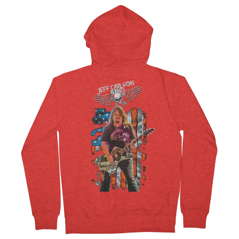 JC American Flag Live-(Brad Coletti Collection) Women's Zip-Up Hoody by JeffCarlsonBand's Artist Shop