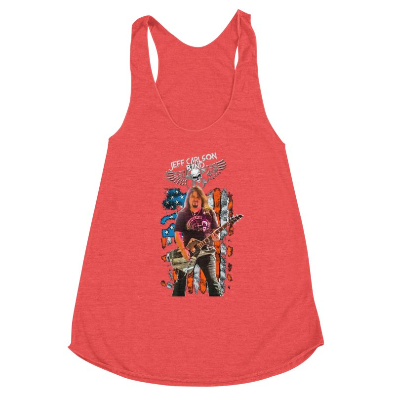 JC American Flag Live-(Brad Coletti Collection) Women's Tank by JeffCarlsonBand's Artist Shop