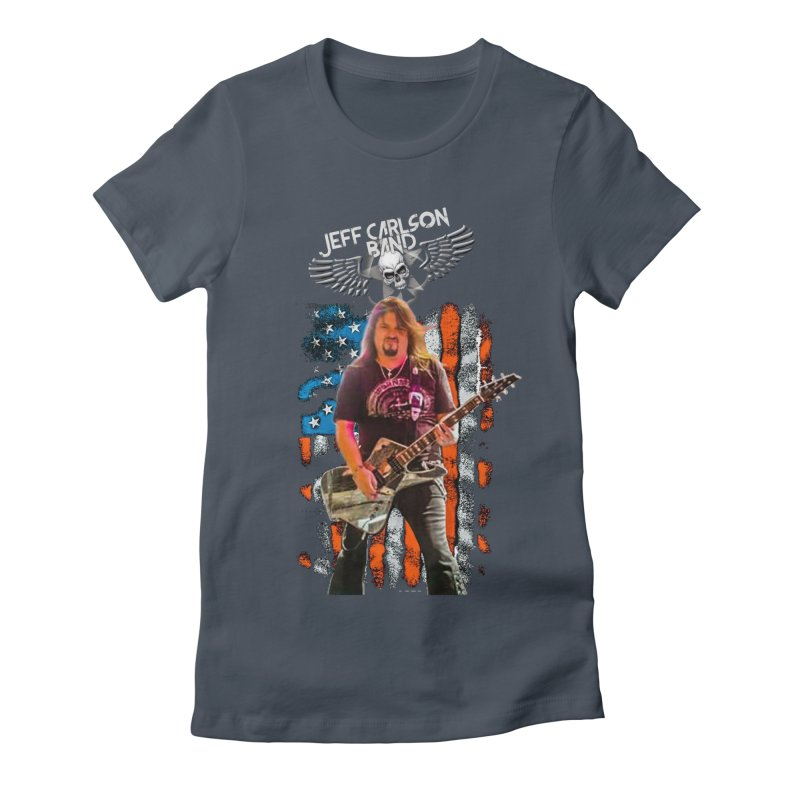 JC American Flag Live-(Brad Coletti Collection) Women's T-Shirt by JeffCarlsonBand's Artist Shop