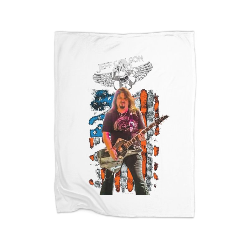 JC American Flag Live-(Brad Coletti Collection) Home Blanket by JeffCarlsonBand's Artist Shop