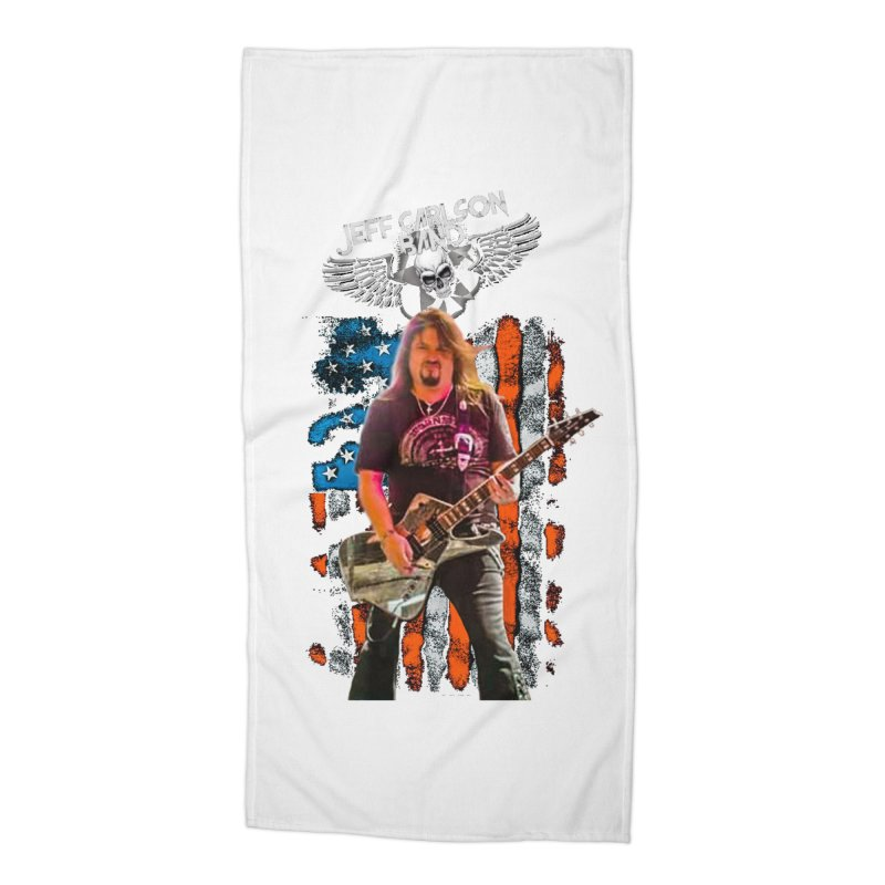 JC American Flag Live-(Brad Coletti Collection) Accessories Beach Towel by JeffCarlsonBand's Artist Shop
