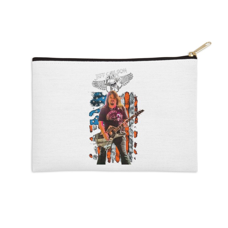 JC American Flag Live-(Brad Coletti Collection) Accessories Zip Pouch by JeffCarlsonBand's Artist Shop