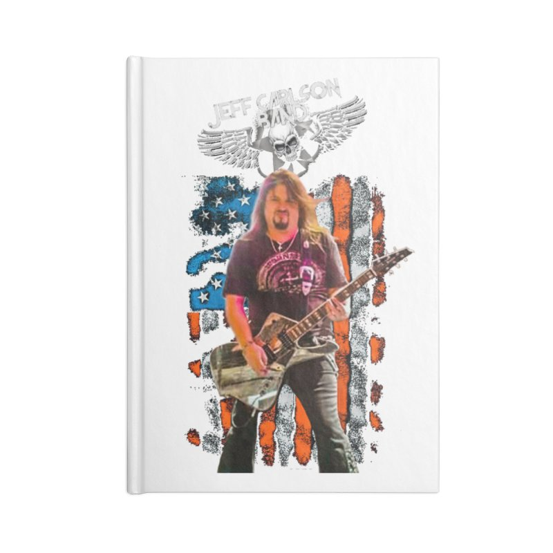 JC American Flag Live-(Brad Coletti Collection) Accessories Notebook by JeffCarlsonBand's Artist Shop