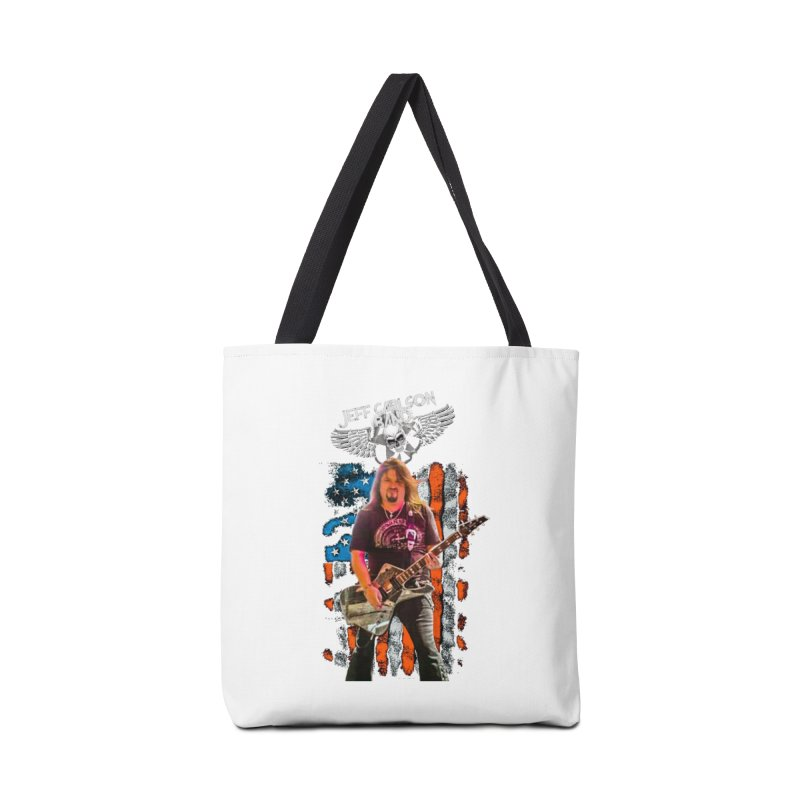 JC American Flag Live-(Brad Coletti Collection) Accessories Bag by JeffCarlsonBand's Artist Shop