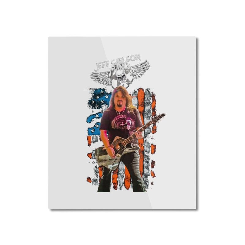 JC American Flag Live-(Brad Coletti Collection) Home Mounted Aluminum Print by JeffCarlsonBand's Artist Shop
