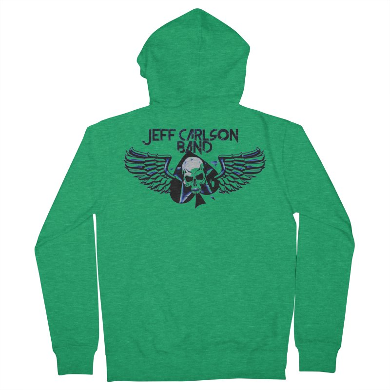 JCB New Blue Logo Men's Zip-Up Hoody by JeffCarlsonBand's Artist Shop