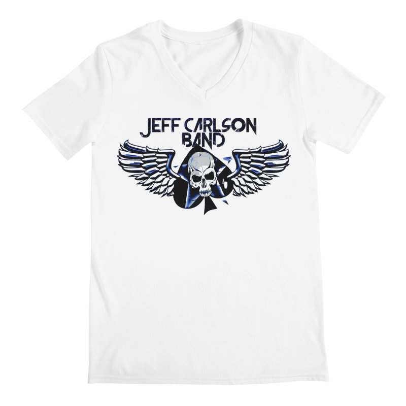 JCB New Blue Logo Men's V-Neck by JeffCarlsonBand's Artist Shop