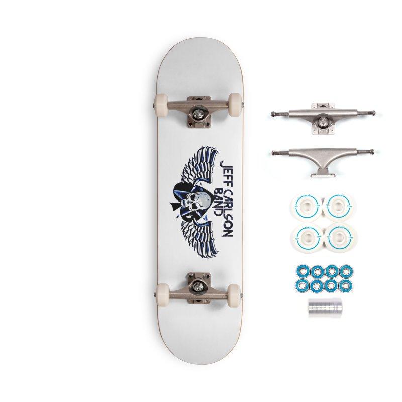 JCB New Blue Logo Accessories Skateboard by JeffCarlsonBand's Artist Shop