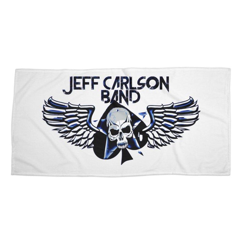 JCB New Blue Logo Accessories Beach Towel by JeffCarlsonBand's Artist Shop